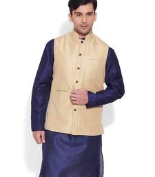 Buy cream printed stitched nehru jacket nehru-jacket online
