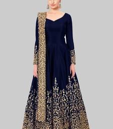 Buy Blue embroidered silk salwar black-friday-deal-sale online