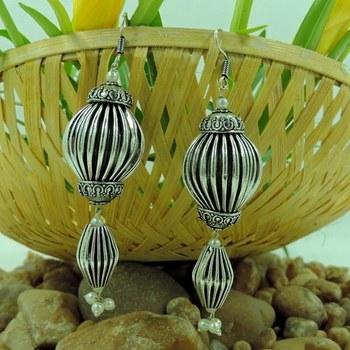 Small Oxidized Ovel Shape Earrings