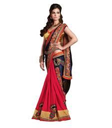 Buy Multicolor embroidered georgette saree with blouse navratri-sarees-nine-day online
