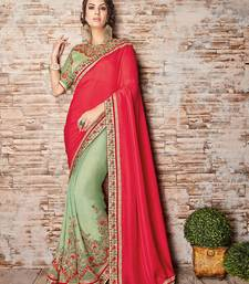 Buy Magenta embroidered silk saree with blouse diwali-sarees-collection online