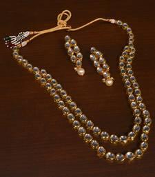 Buy Kundan Embellished Meenakari Multi-layered Wedding Essential Long Necklace necklace-set online