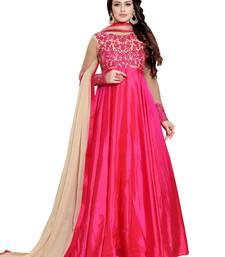 Buy Pink embroidered silk salwar ethnic-suit online