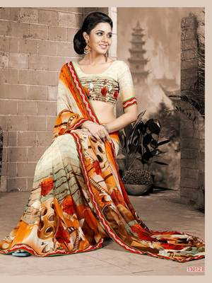 Beautiful Fancy Prints Georgette saree