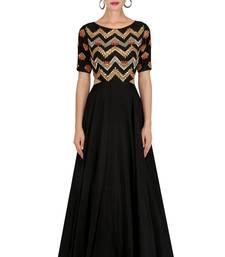 Buy Black embroidered cotton silk salwar with dupatta salwar-kameez-below-2000 online