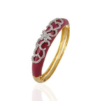 Heena Trendy Matte Rust Red Enamel Bracelete by Heena Jewellery >> HJBC07 <<