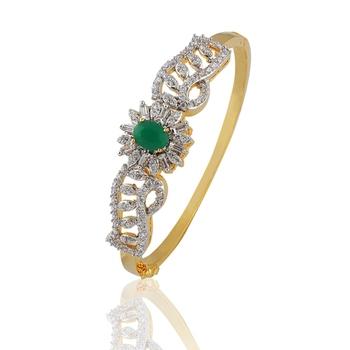 Heena Charming Green Stone Bracelete by Heena Jewellery >> HJBC16 <<