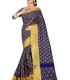 Buy Purple woven silk saree with blouse art-silk-saree online