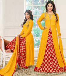 Buy Yellow embroidered georgette salwar black-friday-deal-sale online