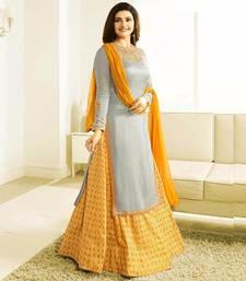 Buy Grey embroidered crepe salwar sharara online