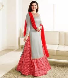 Buy Red embroidered crepe salwar sharara online