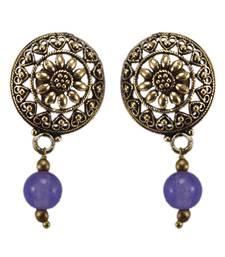 Buy Purple crystal earrings Earring online