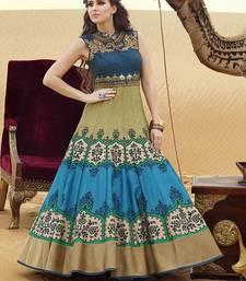 Buy Green embroidered bhagalpuri salwar readymade-suit online