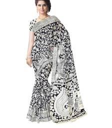 Buy  Kalamkari Saree in Cotton-Black & White kalamkari-saree online