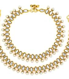 Buy antique traditional pearl kundan look payal anklet party-jewellery online