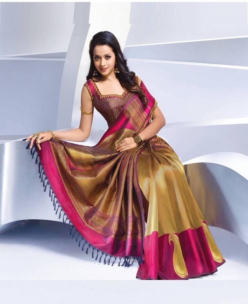 Buy Multicolor Printed Synthetic Saree With Blouse Online