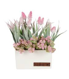 Buy Enticing Pink  and  Green Artificial Plant with Pot flower online