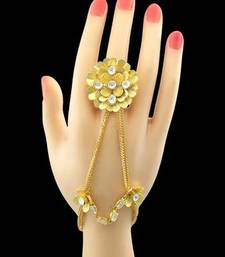 Buy Clear Designer Haath Panja Phool Jewellery for Women haath-phool-hath-panja online