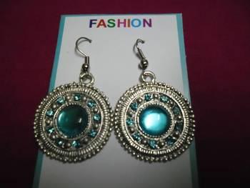 Silver & sky blue earrings