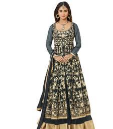 Buy Grey embroidered net salwar ready-to-ship-salwar-kameez online