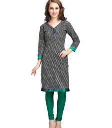 Buy Grey printed cotton kurtas-and-kurtis kurtas-and-kurtis online