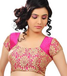 Buy pink banglory  zari stitched blouse readymade-blouse online