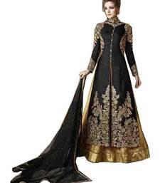 Buy Black embroidered silk salwar with dupatta wedding-salwar-kameez online