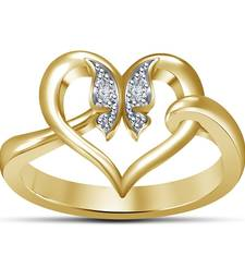 Buy Heart & Butterfly Ring Solid 14k Gold Plated With Simulated Diamond Pretty Wemens & Girls Only Ring online