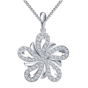 925 Sterling Silver Pendant For Women (White)