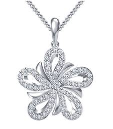 Buy 925 Sterling Silver Pendant For Women (White) cubic-zirconia-cz-pendant online