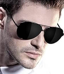 Buy Stylish Black Aviator goggles by Apnisha sunglass online