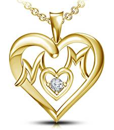 Buy 14K Gold Plated 925 Sterling Silver Pendant For Women (Gold) cubic-zirconia-cz-pendant online