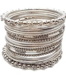 Buy Silver Plated Plated Antique Look Wedding Bangles for Women bangles-and-bracelet online
