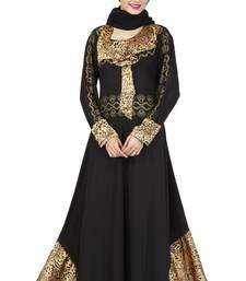 Buy Black Colored Lycra Stitched Abaya abaya online