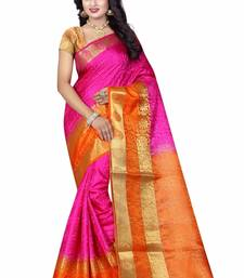 Buy Multicolor woven cotton silk saree with blouse hand-woven-saree online