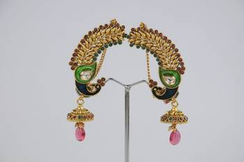 Traditional Full Ear Peacock Earring