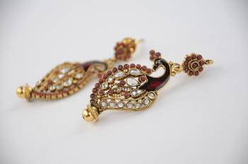 Traditional Peacock Earrings