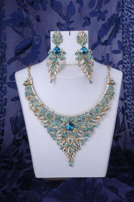 Stunning Necklace Set Turquoise Blue