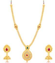 Buy Sukkhi Dazzling Gold Plated Necklace Set for women necklace-set online