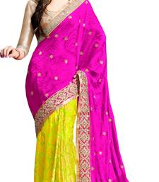 Buy Pink embroidered georgette saree with blouse contemporary-saree online