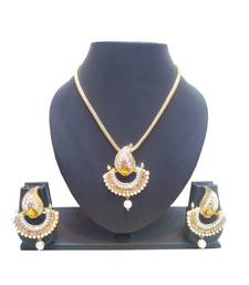 Buy Latest Gold pearl imported necklace-sets necklace-set online