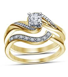 Buy 14k gold plated sterling silver engagement ring set for women cubic-zirconia-cz-ring online