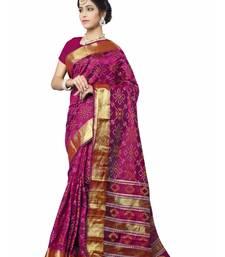 Buy Purple woven patola saree with blouse patola-saris online
