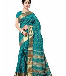 Buy Green woven patola saree with blouse patola-saris online