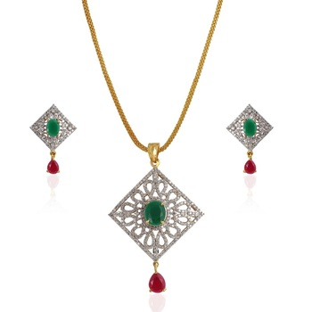 Heena Classic Collection Pendent Set >> HJPN124GR <<