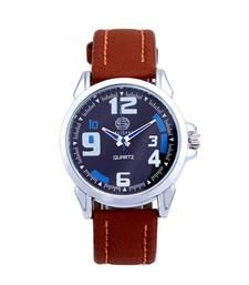 Buy Bluish navy blue dial analogue watch for men vintage-watch online
