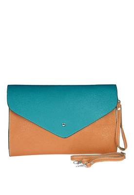 Just Women -  Lovely Cornflower Leather Box Bag
