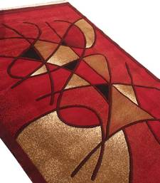 Buy WINTER EXPORT QUALITY COLOR 6 x 8 SIZE (ECONOMICAL GOOD) WITH EMBOSS CUT 0.5 INCH LOTS OF SOFTNESS-RED carpet online