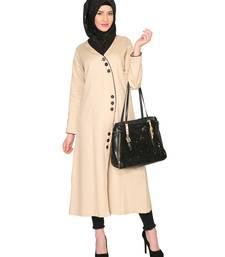 Buy Beige premium cotton stitched abaya abaya online