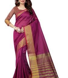 Buy Pink plain art silk saree with blouse art-silk-saree online